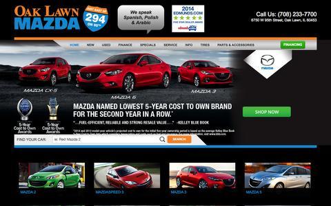 Screenshot of Home Page oaklawnmazda.com - Mazda Dealer Chicago located in Oak Lawn | Oak Lawn Mazda - captured Sept. 30, 2014