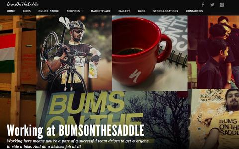 Screenshot of Jobs Page bumsonthesaddle.com - Careers at BUMSONTHESADDLE | Indian Cycling Industry - BumsOnTheSaddle.com - captured Oct. 21, 2015