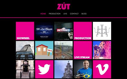 Screenshot of Home Page zutmedia.com - ZutMedia - Video Production Liverpool, A new breed of video agency - captured June 17, 2015