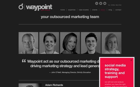 Screenshot of Team Page waypointdigitalmarketing.com - Your Outsourced Marketing Team | Marketing Company Winchester Hampshire - captured Feb. 14, 2019