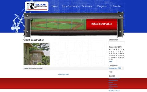 Screenshot of Site Map Page reliantconstructioninc.com - Reliant Construction» Reliant Construction - captured Sept. 30, 2014