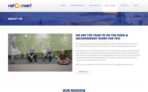 Screenshot of About Page netconvert.net - About Us   NetConvert - captured Feb. 14, 2016