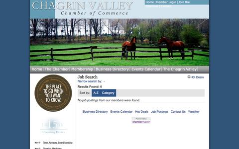 Screenshot of Jobs Page cvcc.org - Job Search - Chagrin Valley Chamber of Commerce, OH - captured Nov. 3, 2016