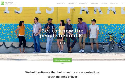 RL Solutions - Healthcare safety, incident reporting and feedback software