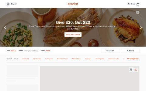 Food Delivery - Peninsula Restaurants | Caviar