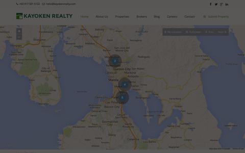 Screenshot of Maps & Directions Page kayokenrealty.com - Map View   Kayoken Realty - captured Oct. 29, 2014