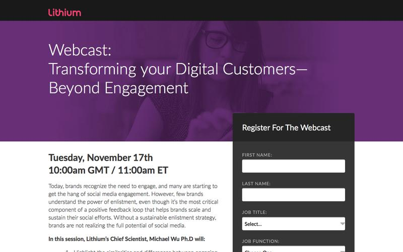 Transforming your Digital Customers—Beyond Engagement