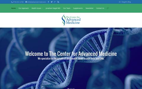 Screenshot of Home Page advanced-med.com - The Center for Advanced Medicine | - captured Oct. 9, 2014