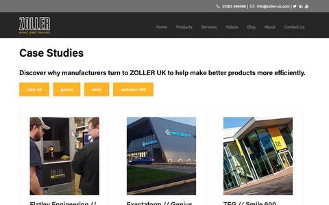Screenshot of Case Studies Page zoller-uk.com - Case Studies - Zoller UK - captured Dec. 11, 2018