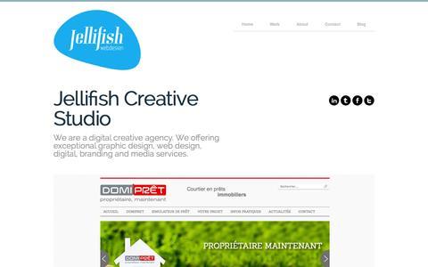 Screenshot of Home Page jellifish.fr - Jelto von Schuckmann - Webdesign et UI-Design - captured Oct. 4, 2014