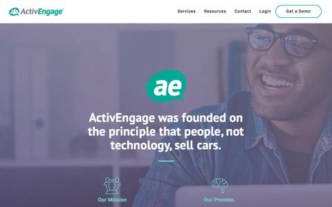 Screenshot of About Page activengage.com - About Us - ActivEngage - captured Nov. 9, 2019