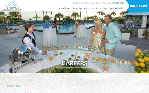 Screenshot of Jobs Page longboatkeyclub.com - Careers at The Resort at Longboat Key Club - captured May 22, 2017