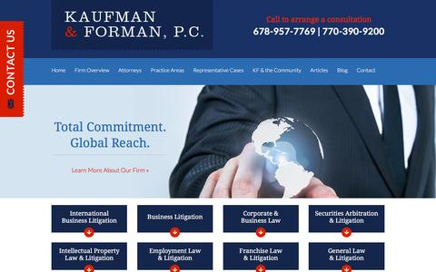 Screenshot of Site Map Page kauflaw.net - Site Map | Kaufman & Forman, P.C. | Atlanta Georgia - captured Feb. 12, 2016