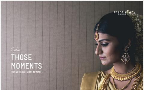 Screenshot of Menu Page creativechisel.com - Creative Chisel | Candid Wedding Photography and Videography | Bangalore | Chennai | Hyderabad | Kerala | Delhi - captured Oct. 3, 2014