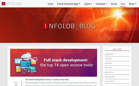 Screenshot of Blog infolob.com - Blog – Infolob - captured Aug. 15, 2018