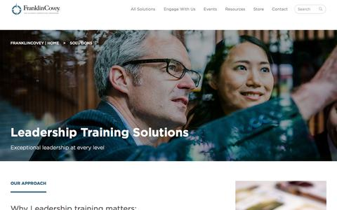 Screenshot of Team Page franklincovey.com - Leadership Training Solutions - captured Oct. 14, 2017