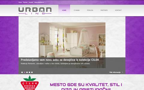 Screenshot of Home Page urbanline.rs - Mesto gde su kvalitet, stil i dizajn pristupačni | Salon nameštaja Urbanline - captured Sept. 30, 2014
