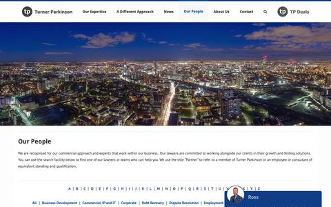 Screenshot of Team Page tp.co.uk - Our People | Turner Parkinson - captured Oct. 19, 2018