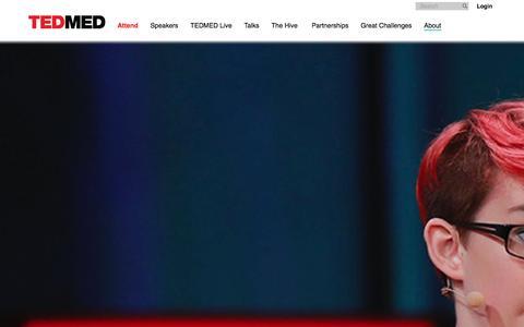 Screenshot of About Page tedmed.com - TEDMED - About TEDMED - captured Jan. 14, 2016