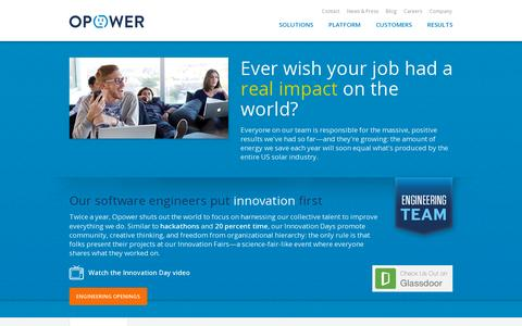 Screenshot of Jobs Page opower.com - Careers | Opower - captured July 20, 2014