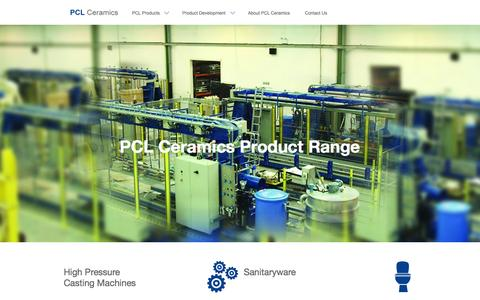 Screenshot of Products Page pclceramics.com - View the range of products manufactured by PCL Ceramics - captured Jan. 22, 2016