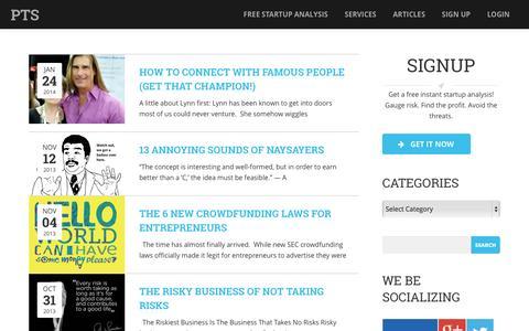 Screenshot of Blog plantostart.com - Plan to Start - captured Oct. 8, 2014