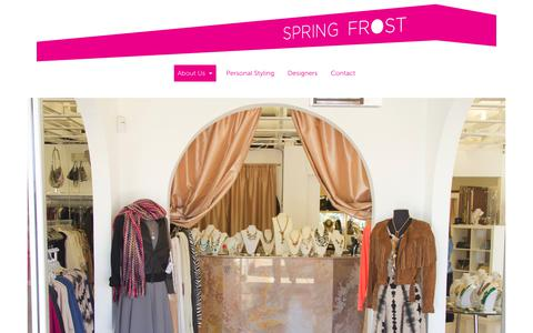 Screenshot of About Page designerclearancehouse.com - SPRING FROST - captured Aug. 6, 2018