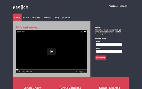 Screenshot of Home Page paaco.com.au - home - captured Sept. 26, 2014