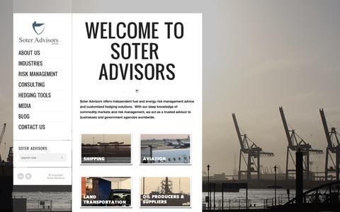 Screenshot of Home Page soteradvisors.com - Soter Advisors | - captured Oct. 7, 2014