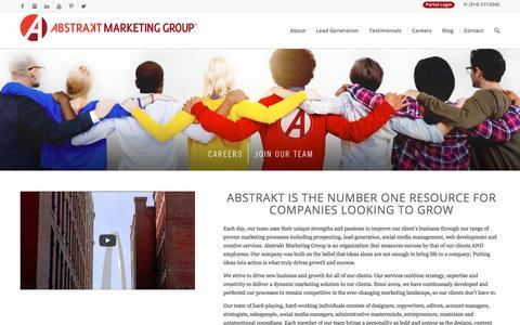 Screenshot of Home Page abstraktmg.com - Full Service Marketing Agency - Abstrakt Marketing Group - captured Aug. 3, 2017
