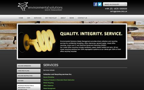 services - Environmental Solutions Waste Management