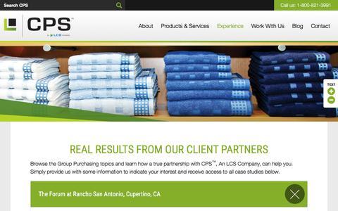 Screenshot of Case Studies Page cpslcs.com - Case Studies | CPS - captured Jan. 23, 2016