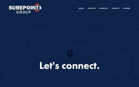 Screenshot of Contact Page surepoint.ca - Contact — Surepoint - captured Oct. 18, 2018