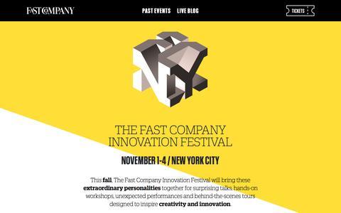 Screenshot of fastcompany.com - Fast Company Innovation Festival - captured May 31, 2016