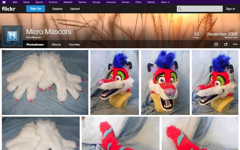 Screenshot of Flickr Page flickr.com - Flickr: MicroMascots' Photostream - captured Oct. 27, 2014