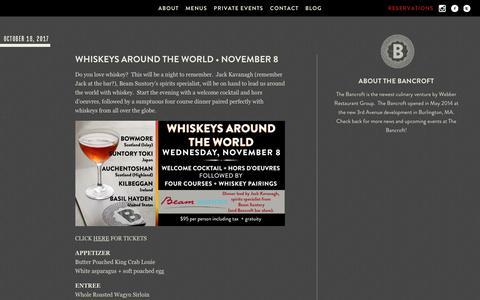 Screenshot of Blog the-bancroft.com - The Bancroft Blog - The Bancroft - captured Nov. 5, 2017