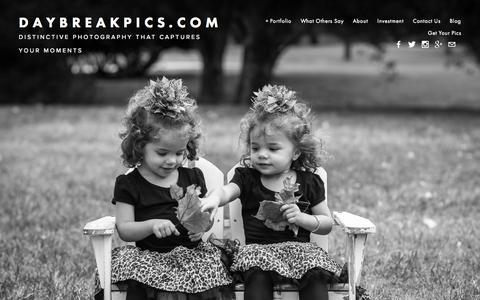 Screenshot of Home Page daybreakpics.com - DaybreakPics.com - captured Sept. 12, 2015