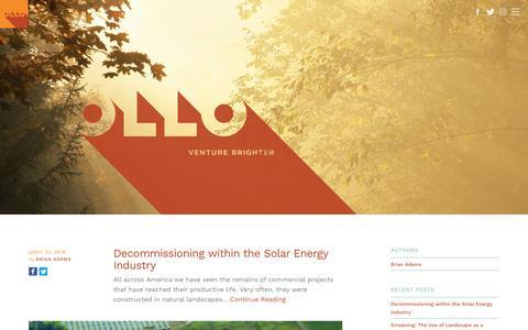 Screenshot of Blog ollo.energy - Get the latest solar energy news & updates   Ollo - captured July 6, 2018