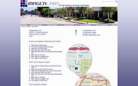 Screenshot of Maps & Directions Page imagerlabs.com - Directions to Imagerlabs Headquarters - captured Aug. 5, 2016