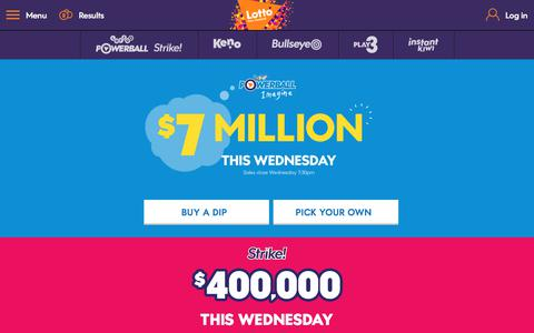 Screenshot of Home Page mylotto.co.nz - MyLotto - captured June 27, 2017