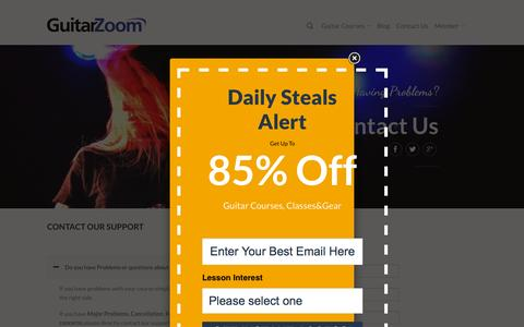 Screenshot of Contact Page guitarzoom.com - Contact Us   Guitarzoom - captured Sept. 23, 2015