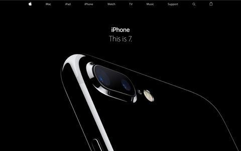 Screenshot of Home Page apple.com - Apple - captured Sept. 8, 2016