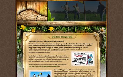 Screenshot of Home Page outdoor-playground.nl - Outdoor-Playground Valkenswaard - captured Oct. 12, 2015