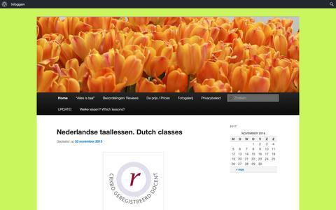 Screenshot of Home Page allesistaal.nl - Alles is taal   Ieke Koopmans - captured Nov. 6, 2018