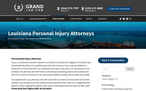 Louisiana Personal Injury Attorneys - Grand Law Firm