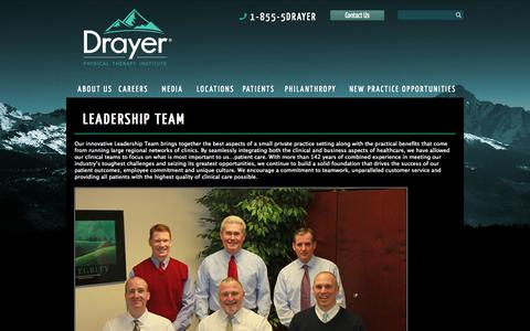 Screenshot of Team Page drayerpt.com - Leadership Team « Drayer Physical Therapy Institute Drayer Physical Therapy Institute - captured Oct. 5, 2014