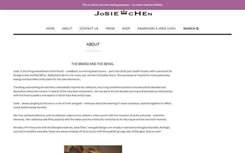 Screenshot of About Page josiechenrange.com - About - Josie Chen Range - captured June 8, 2017