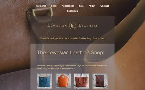 Screenshot of Menu Page lewesianleathers.co.uk - Shop — Lewesian Leathers - captured Sept. 30, 2014