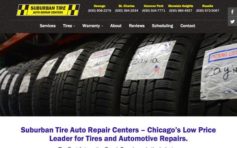 Screenshot of Services Page suburbantire.com - We Offer The Best Automotive Repair Experience In The Auto Industry | Suburban Tire Auto Repair Centers - captured Feb. 26, 2016