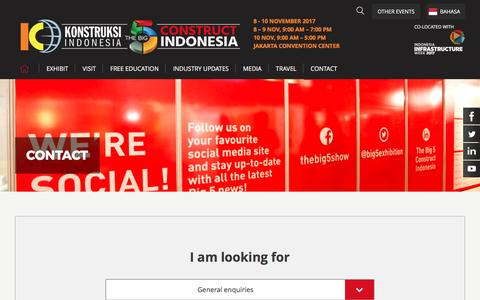 Screenshot of Team Page konstruksiindonesiabig5.com - CONTACT - The Big 5 Construct Indonesia 2017 - captured May 8, 2017